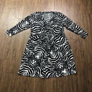 Eloquii | 22 | Twist Front Printed Dress
